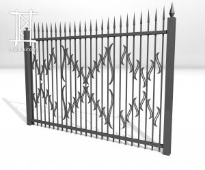 Заборы и ворота металлические № 20
