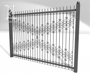 Заборы и ворота металлические № 4