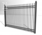 Заборы и ворота металлические № 10