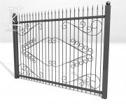Заборы и ворота металлические № 11