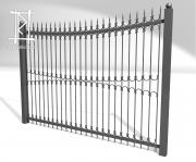 Заборы и ворота металлические № 12