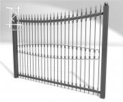Заборы и ворота металлические № 13