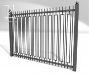 Заборы и ворота металлические № 14