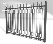Заборы и ворота металлические № 15