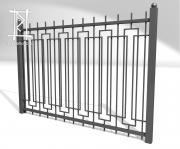 Заборы и ворота металлические № 16