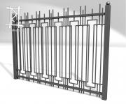 Заборы и ворота металлические № 17