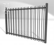 Заборы и ворота металлические № 1