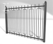 Заборы и ворота металлические № 18