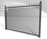 Заборы и ворота металлические № 19
