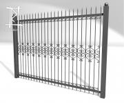 Заборы и ворота металлические № 5