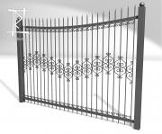 Заборы и ворота металлические № 6