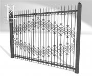 Заборы и ворота металлические № 7