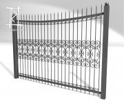 Заборы и ворота металлические № 8