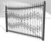Заборы и ворота металлические № 9