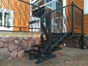 Металлические лестницы - кованые и сварные №1